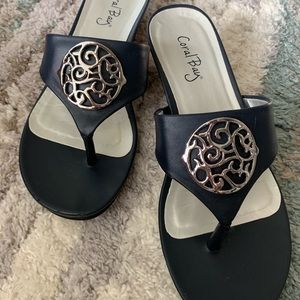 Coral Bay Navy Sandals size 9